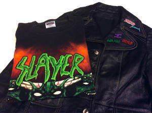 「 SLAYER & OZZY LEATHER 」 - GIANT BABY    used&vintage clothing & culture & happy