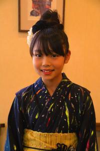 浴衣 着付け 帯結び ヘアアレンジ 子供 アップスタイル髪型 - 美容室エスポワール