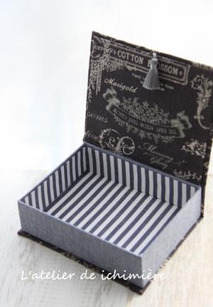 BOOK型BOX・miniトレイ&ウエットティッシュ<Oct.20> - ichimiereカルトナージュと手づくりの時間