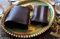 イタリアンレザー・ミネルバリスシオ・コンパクト2つ折り財布と2本差しペンケース・時を刻む革小物 - 時を刻む革小物 Many CHOICE~ 使い手と共に生きるタンニン鞣しの革