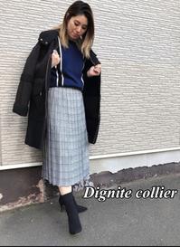 「Dignite collierディニテ・コリエ」新作ニット・スカートのご紹介です。 - UNIQUE SECOND BLOG