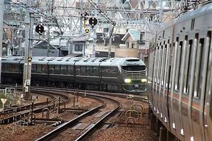 藤田八束の鉄道写真@瑞風の残念な写真をご紹介・・・せっかく瑞風をさくら夙川でまったのに - 藤田八束の日記