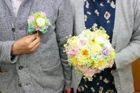 ブーケを自分で保存加工結婚式後の一年10月14日単発1dayプリザーブドレッスン - 一会 ウエディングの花