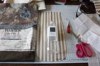 【デコレクションズ】制作中のバッグとハンドメイドにお勧めなリボンテープ♪ - neige+ 手作りのある暮らし