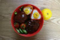 ロコモコ丼弁当と地霧 - オヤコベントウ
