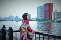 東京・月島隅田川にて - 天野主税写遊館