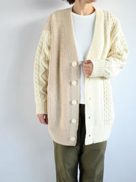 unfilfrench merino cable-knit cardigan / natural - 『Bumpkins putting on airs』