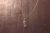滴るハートのネックレスK10イエローゴールドCP / CP-04 K10YG - アクセサリー職人 モリタカツヤ MOHI silver works  Jewelry Factory KUROBE