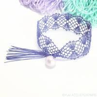 糸六さんの絹糸でボビンレース - お茶しながらボビンレース