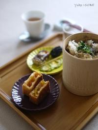 牛蒡飯と鳳梨酥(パイナップルケーキ) - お茶をどうぞ♪