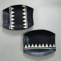 アフリカンな(つもりの)皿 - エゾノコ手作り帳