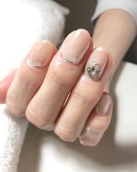 短いお爪のホワイトミラー。 - 札幌駅近くのジェルネイルサロン☆nailedit:ネイルエディット