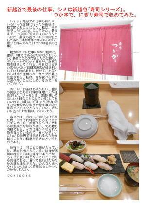 新越谷で最後の仕事。シメは新越谷「寿司シリーズ」。つか本で、にぎり寿司で収めてみた。