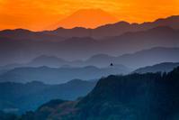 夕暮れの富士山 - デジカメ写真集