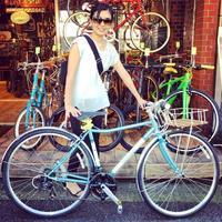 ☆今日のバイシクルガール☆ 自転車女子 自転車ガール ミニベロ クロスバイク ライトウェイ トーキョーバイク シュウイン ラレー ブルーノ おしゃれ自転車 マリン ターン - サイクルショップ『リピト・イシュタール』 スタッフのあれこれそれ