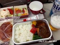 ◆ 機内食、その47「ソウル」へ(2017年5月) - 空と 8 と温泉と