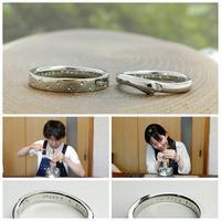 猫をモチーフにした結婚指輪オーダーメイド 岡山 - 工房Noritake