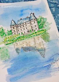 水に映るリレット城 - わたしの足跡2 ~ときどきパリ