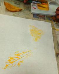 10月幼児クラス「葉の和風ランプ」&パステル画 - 絵画教室アトリえをかく