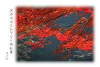 渓谷の紅葉 - ゆきおのフォト俳句