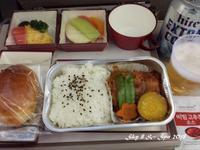 ◆ 機内食、その51「ソウル」へ(2017年10月) - 空と 8 と温泉と