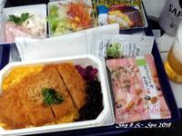 ◆ 機内食、その56「ソウル」へ(2018年2月) - 空と 8 と温泉と