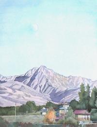 八ヶ岳に秋月 - ryuuの手習い