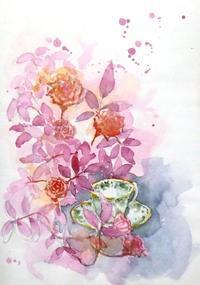 薔薇とティーカップ - ryuuの手習い