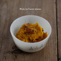 かぼちゃとベーコンのサラダ - ふみえ食堂  - a table to be full of happiness -