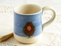 クリスマス・ロビンのマグカップ - ブルーベルの森-ブログ-英国のハンドメイド陶器と雑貨の通販