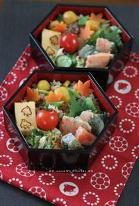 栗の炊き込みご飯と鮭紫蘇天ぷら(๑¯﹃¯๑)♪ - **  mana's Kitchen **