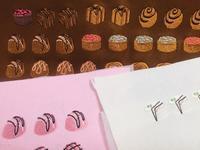 チョコレートのサンプル縫い - go!go!ミシンクラブ