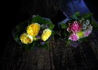 チェロの発表会で、先生への花束2種。札幌市教育文化会館にお届け。2018/10/28。 - 札幌 花屋 meLL flowers