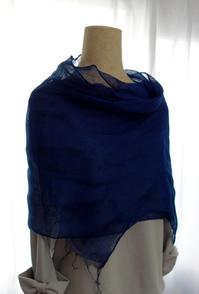 藍染ストール★色々な服に合わせて - 月夜飛行船