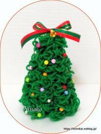 ゆび編みでツリー作り ②♪ - ルーマニアン・マクラメに魅せられて