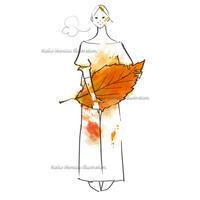秋の収穫--オリジナルイラスト - 女性誌を中心に活動するイラストレーター ★★清水利江子の仕事ブログ
