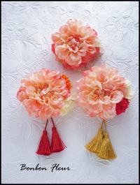 お揃い♪コサージュ&七五三髪飾り&卒業袴髪飾り - Bonbon Fleur ~ Jours heureux  コサージュ&和装髪飾りボンボン・フルール