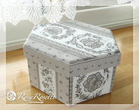 マチ付き6角ボックスでお道具箱♪ - Rosy Rosette カルトナージュ日記