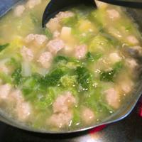 白菜と鶏ひき肉のお味噌汁 - 野口家のふだんごはん ~レシピ置場~
