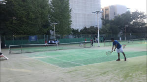 リーグ戦第4戦入れ替え戦 対電通大学 - 東京電機大学理工学部硬式庭球部
