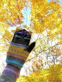 10月に編んだもの - 山麓風景と編み物