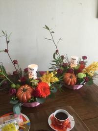 フラワーアレンジレッスン🎃 - coco diary 山口県 お花と絵と楽しいティータイム