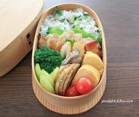 鶏モモ塩麹漬けグリル弁当 - 男子高校生のお弁当