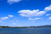 島を渡る苓北火力線。 - 青い海と空を追いかけて。
