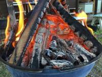 焚き火 - 週末陶芸家 フジサキウサジ