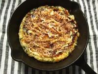 ご飯と卵で、お好み焼き風 - Minha Praia