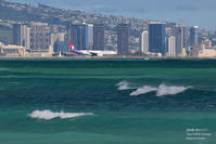 ハワイアンとハワイの海 - 飛行機写真 ~旅客機に魅せられて~