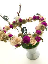 センニチコウを活かして! - **おやつのお花*   きれい 可愛い いとおしいをデザインしましょう♪