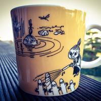 Moomin Mug Dark Yellow 1991-1996 / Arabia アラビア ムーミンマグ ダークイエロー - @ interior space