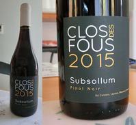 CLOS DES FOUS Subsollum Pinot Noir 2015 - 北軽1130